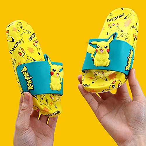 Sandale De Bain D Intérieur Anime Poêle Pokémon Pokémon Sandales Et Pantoufles En Plein Air Salle De Bain Hommes Et Femmes Piscine Chaussures De Douche À Domicile Antidérapante-Jaune 1_33 (200Mm)