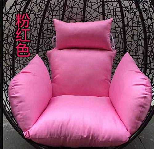 ZHANGYY Extra Large Swing Chair Cushion, Hanging Rattan Chair Hammock Pad, with Pillow Patio Garden Wicker Solid Color Outdoor-R