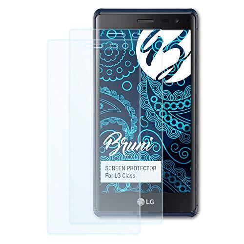 Bruni Schutzfolie kompatibel mit LG Class/Zero Folie, glasklare Bildschirmschutzfolie (2X)