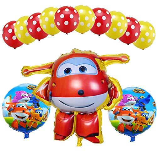Sendeed Globos del cumpleaños 13 Unids / Set Super Wings Jett Balloon Foil Super Wings Juguetes Fiesta de cumpleaños Globos de Helio Decoraciones Juguetes for niños Suministros ( Color : Red 2 )