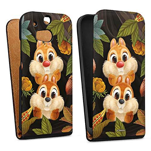 DeinDesign Tasche kompatibel mit HTC One M8s Flip Case Hülle Disney Chip und Chap Offizielles Lizenzprodukt