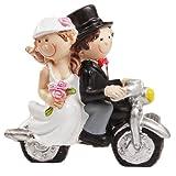 Hochzeitspaar auf Motorrad, ca. 6 x 5 cm [Spielzeug] -