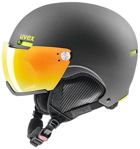 Uvex Erwachsene hlmt 500 visor Skihelm, Gun-Lime mat, 59-62 cm