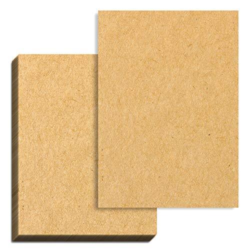 100 hojas, Papel Kraft Marrón A4, 100 g m²