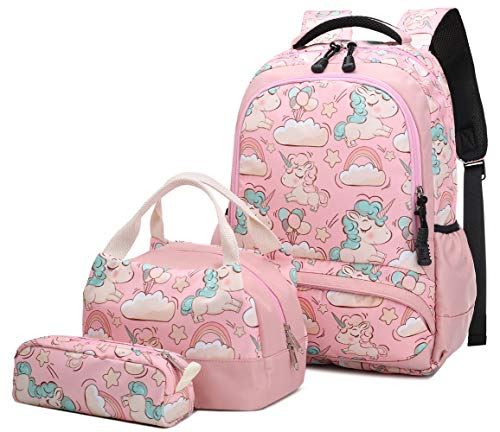Mochila Escolar Unicornio Niña Infantil Adolescentes Sets de Mochila Backpack Casual Set...