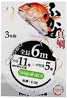 ハヤブサ(Hayabusa) E-732-11-4 シーガーエース フカセ 6m 3本針