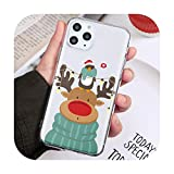Per iPhone 12 Mini Hot Christmas Style Case Coque Per iPhone 11 12 Pro 11Pro XS MAX XR X 7 8 6S Plus 5 SE2 Coperture Chiare, Sdluglin-Per 7 Plus o 8Plus