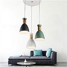 HN Lighting Chandelier Nordic Color Three Macarons Pendant Light Creative Personality Cafe Restaurant Bedroom Living Room ...