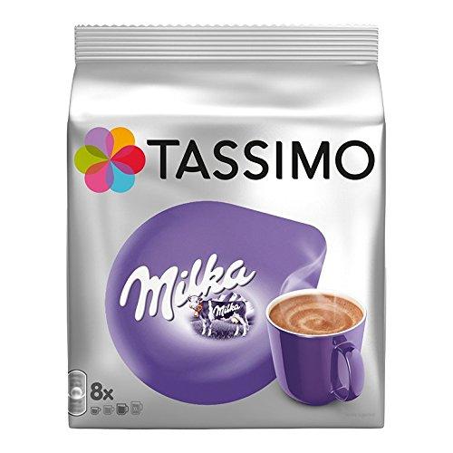 Tassimo T-Discs Milka (16T-Discs) Heiße-Schokolade-Getränk mit Kaffeesahne aus Milch–8Portionen x 2Packungen