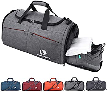 Canway Sports Gym Bag with Wet Pocket & Shoes Compartment