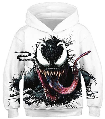 HAOSHENG Jungen Mädchen Hoodie Inder Kapuzenpullover Retro Style Neuheit Pullover Mit Sweatshirt(L)