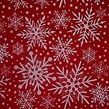 Nortex Mill Stoff, weihnachtliches Schneeflocken-Design,
