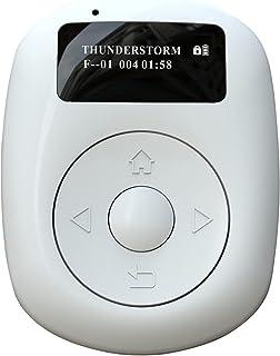 Zakradio digitale radio mini-radio 2,5 cm (1 inch) OLED-display, draagbaar, oplaadbaar, FM-radio met Bluetooth en achtergr...