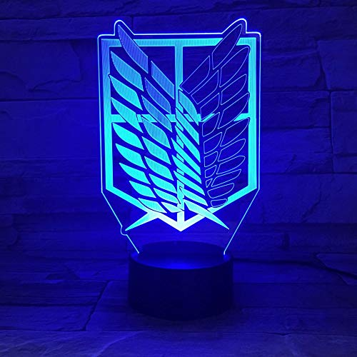 Attack on Titan Desk Lamp with Led Night Light Children Kids Gift Anime Bedroom Desk Lamp Shingeki no Kyojin