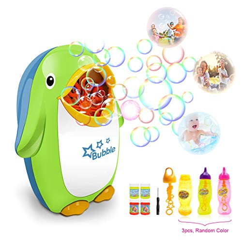 HARBORII Bubble Machine Automatic Penguin Bubble Maker with Bubble Solution 500+ Bubbles per Minute Durable and Safe Used for Bath, Parties, Wedding and so on