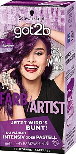 got2b Farb/Artist Haarfarbe, 094 Blueberry Lila, 3er Pack (3 x 113 ml)