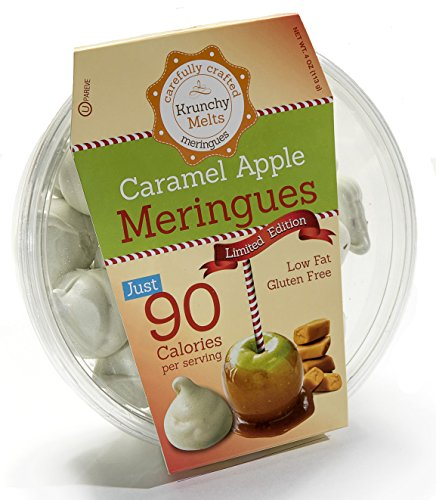 Original Meringue Cookies (Caramel Apple) • 90 calories per serving, Gluten Free, Low Fat, Nut Free, Low Calorie Snack, Kosher, Parve • by Krunchy Melts