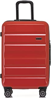 QANTAS Melbourne 68cm 4 Wheel Trolley Suitcase, (Red), (QF970-68-R)
