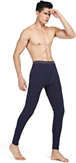 Fulision Men's Thermal Bottoms Warm Pants Lycra Breathable High Elastic Winter Outdoor Man Base Layer Warm Thermal Long John Underwear Ski Wear