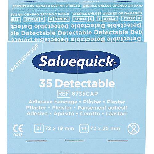 Salvequick Refill 6735 für Spender - Packung mit 6 x 35 nachweisbaren Pflastern