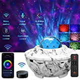 YSD Night Light Star Projector, Star Projector with Bluetooth Speaker,Ocean Wave Projector with WiFi Smart App, Adjustable Brightness & Remote Control, Best Gift for Kids Party Home Decor