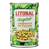 Litoral - Garbanzos con Espinacas, 425 g - [Pack de 5]