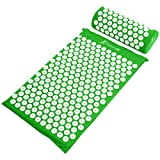 ProsourceFit Acupressure Mat and Pillow Set - Green