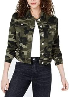 Jou Jou Juniors' Camo Printed Denim Jacket Olive CAMO XS