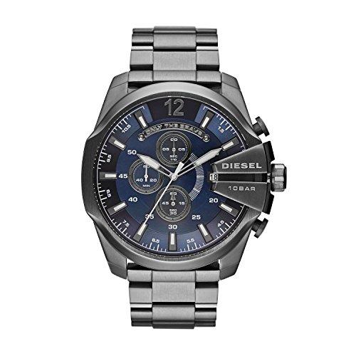 Diesel Herren Chronograph Quarz Uhr mit Edelstahl Armband DZ4329