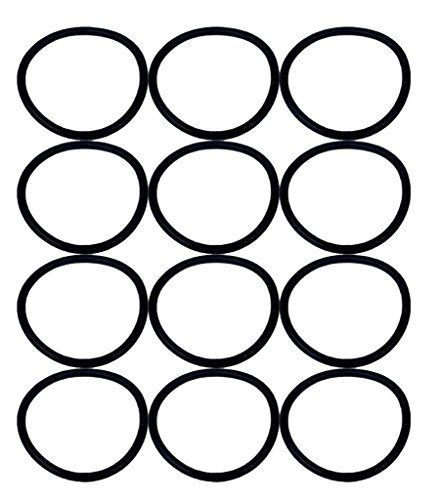 Eureka SAN-GENBELT (12 Pack) Vacuum Cleaner Rubber Brush Roll Belt, Black # E-30563-12pk