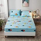 haiba Comfy Night - Juego de sábanas de franela para cama doble, sábana encimera, 150 x 200 + 30 cm