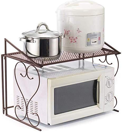 Mute einzigen Metallrahmen Küche Mikrowelle Regal Speicher Organisationen,A