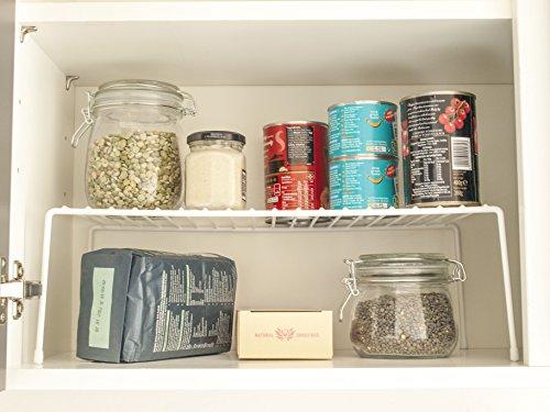 simplywire - Küche Schrank Organizer - Draht Storage Rack - Regal einfügen - freistehend - Weiß