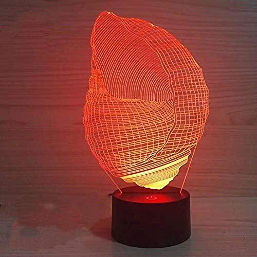 Luz De Noche Luz De Sueño 3D Interruptor Táctil Remoto Luz 3D Novedad Luminaria Lámpara Led 3D Luminaria De Mesa Halloween Usb 7 Cambio De Color Lámpara De Mesa