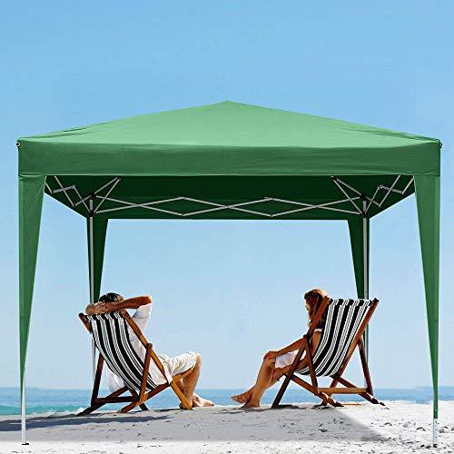 fam famgizmo Pavillon 3x3m wasserdicht Pop-Up inkl. Tasche UV-Schutz 50+ Faltpavillon Gartenzelt Partyzelt Grün