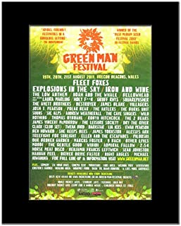 Music Ad World Green Man Festival - 2011 - Fleet FoxesIron & Wine Mini Poster - 28.5x21cm