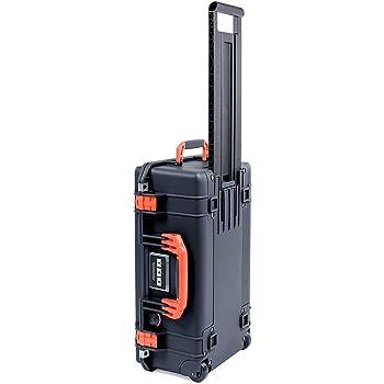 Black Pelican 1535 Air case with Orange Handle & latches. No Foam - Empty.