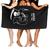Grim Reaper Only True Friend Beach Towel Polyester Microfiber Super Absorbent 32in X 52in Personality Bath Towel Quick Drying Beach Blanket,Towels