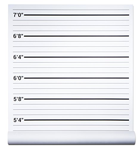 Papery Pop Height Chart Backdrop, Photo Booth Mug Shots Poster