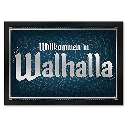 trendaffe - Willkommen in Walhalla Fußmatte mit Runen Motiv