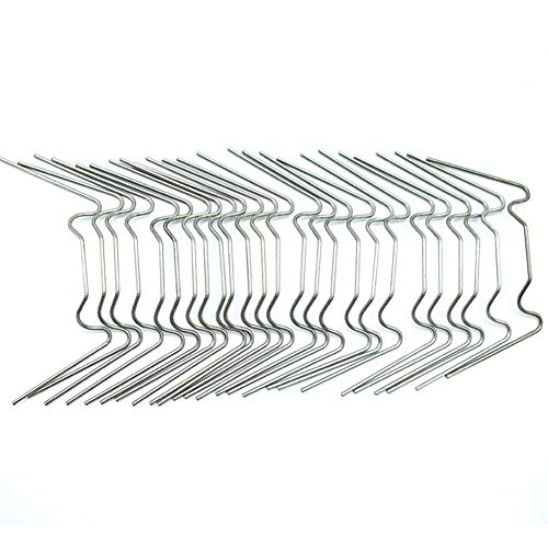 LBZE 100Pcs Greenhouse Glass Pane Fixing Clips Stainless Steel W Type,Universal Applicable and Anti-Severe Weather,W-Wire use Fittings for Aluminium Greenhouse