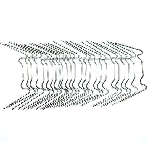 LAMF 100 Stück Gewächshaus-Verglasung Clip W-Draht Verwendung Fittings für Aluminium Gewächshaus