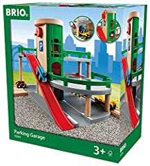 Product includes - The Parking Garage comes complete with 2 cars, 1 car transporter wagon and ramp tracks. Perfect for the creative toddler - Expand your budding train engineer's collection with a Parking Garage toy train accessory. It's the perfect ...