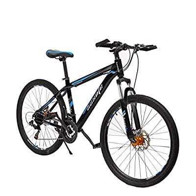 26 Inch Moutain Bike for Women and Men, 21 Speed Dual Disc Brake City Moutain Bicycle for Adults and Teens, Carbon Steel Suspension Fork Bikes【US in Stock】
