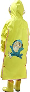 LHY- Raincoat Children's raincoat, Baby Girl, Baby Poncho Breathable and odorless with a Bag raincoat Convenient (Color : Golden, Size : L)