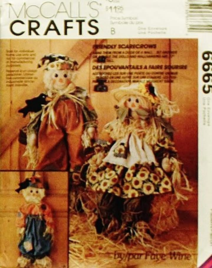 McCall's 6665 Crafts Sewing Pattern Scarecrows Dolls Black Bird Wall Hanging