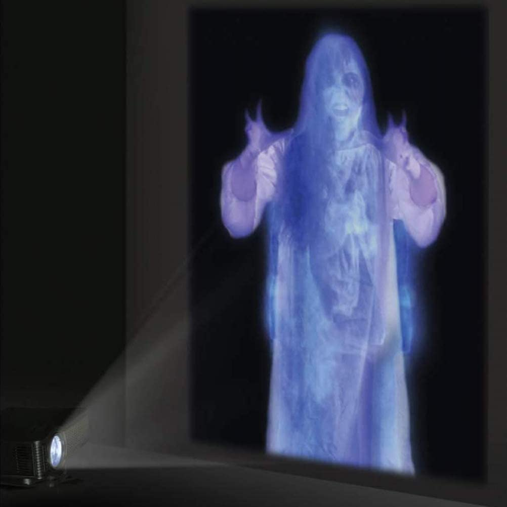 Taerausi Window Movie Projection Screen, Foldable Fabric Rear Projection Screen, Window Holographic Rear Projection Screen for Virtual Halloween and Christmas Window Projection Videos