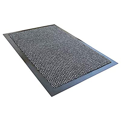 Ultralux Indoor Entrance Mat | Grey | Polypropylene Fibers and Anti-Slip Vinyl Backed Entry Rug Doormat | Home or Office Use | Multiple Sizes