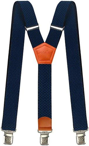Hosenträger für Herren breit extra starken 4 cm mit 3er Clips Y-Form Lange für Männer und Damen Hose (Blau 2)