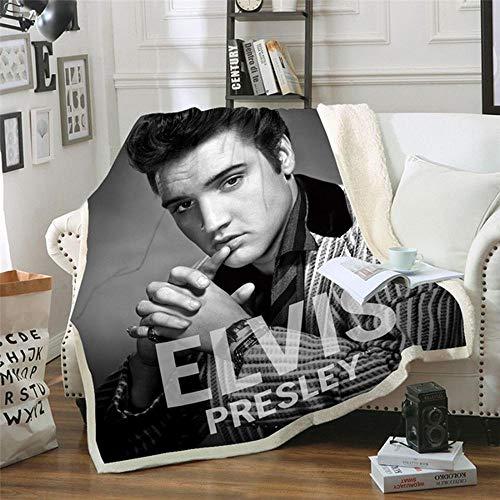 LIFUQING Decke 3D Elvis Presley (Elvis Presley) Home Decke Mikrofaser Decke Adult Futon Adult-150X200Cm